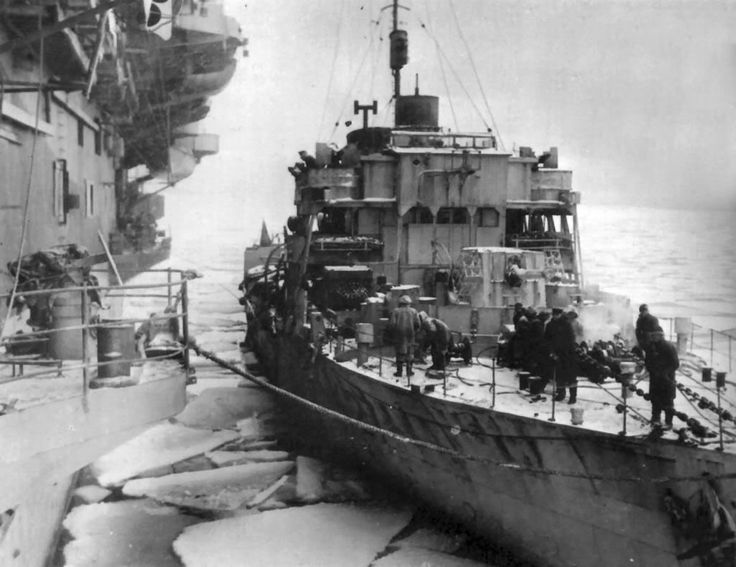 HMS Honeysuckle (Lt.Cdr. G.W. Gregorie, RNR) picks up 51 survivors from the British merchant Empire Burton that was torpedoed and sunk by German U-boat U-74 east of Cape Farewell in position 61°34'N, 35°05'W. HMS Honeysuckle also picks up 22 survivors from the British tanker T.J. Williams that was torpedoed and sunk by German U-boat U-552 east of Cape Farewell in position 61°34'N, 35°11'W.