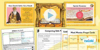 PlanIt - RE Year 3 - Sikhism Lesson 5: Holy Book Lesson Pack - Guru Granth Sahib, Mool Mantar, Sukhmani Sahib Bani, prayers, Guru Nanak