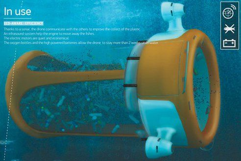 Marine Drone Concept Cleans Up Plastics In The Ocean : TreeHugger