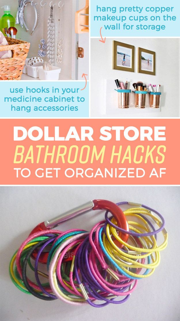 15 Genius Dollar Store Bathroom Hacks Because Mess = Stress