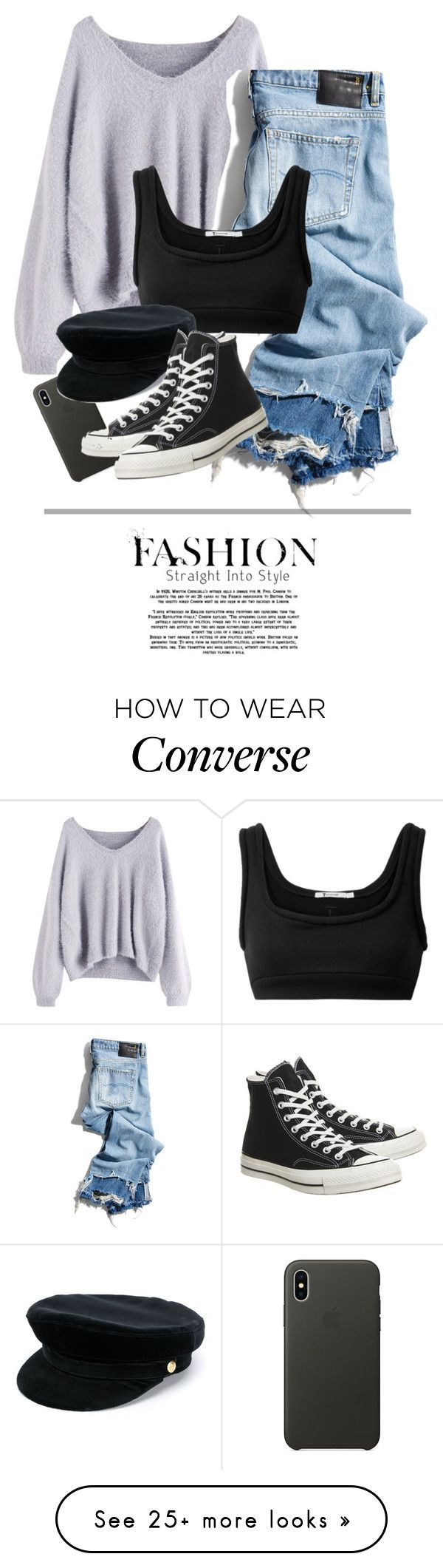 """*"" by bekahxjayne on Polyvore featuring R13, T By Alexander Wang, Apple, Manokhi and Converse"
