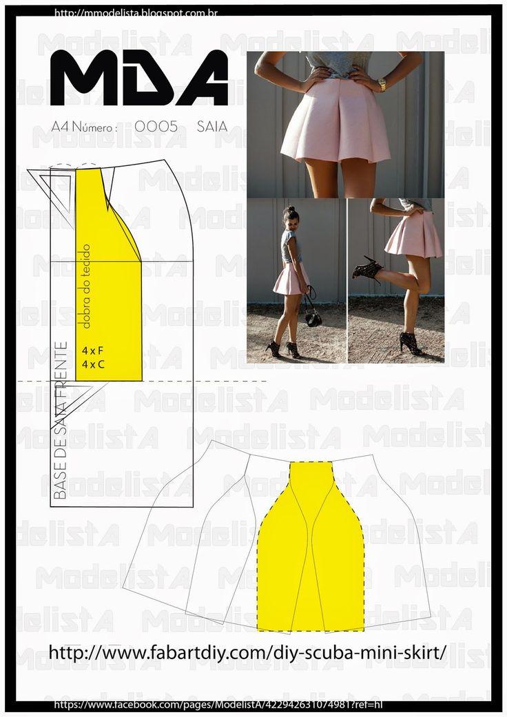 Scuba skirt ModelistA: A4 - NÚMERO 0005 - SAIA
