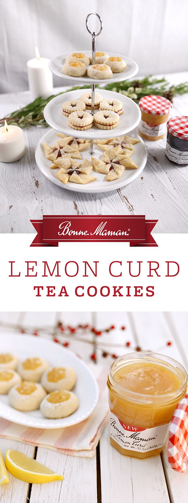 Quick and easy to make, these mini cookies are light and joyfully sweet with our versatile Bonne Maman Lemon Curd Spread. Enjoy as an afternoon treat with your favorite cup of tea.