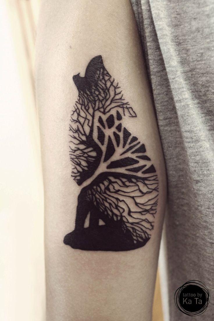 Tattoo motiv wolf tattoovorlage wolfskopf - Geometric Wolf Arm Tattoo On Tattoochief Com
