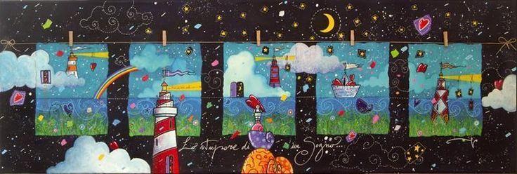 ANDREA AGOSTINI - Lo stupore di un sogno -  serigrafia - 140 x 40