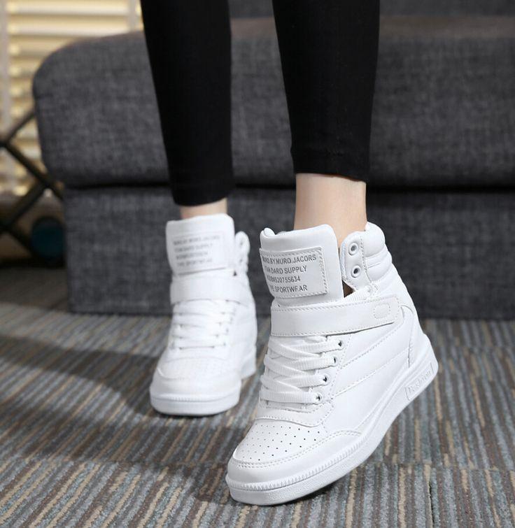 Barato 2015 primavera outono ankle boots sapatos de salto mulheres cunhas altura sapatos casuais aumentou sapatos de alta top cor misturada, Compro Qualidade Calçados Casuais das mulheres diretamente de fornecedores da China:           -condição: 100% brand new -tamanho: (um centímetro cerca de 0.39 polegadas, por favor escolher o seu tamanho d