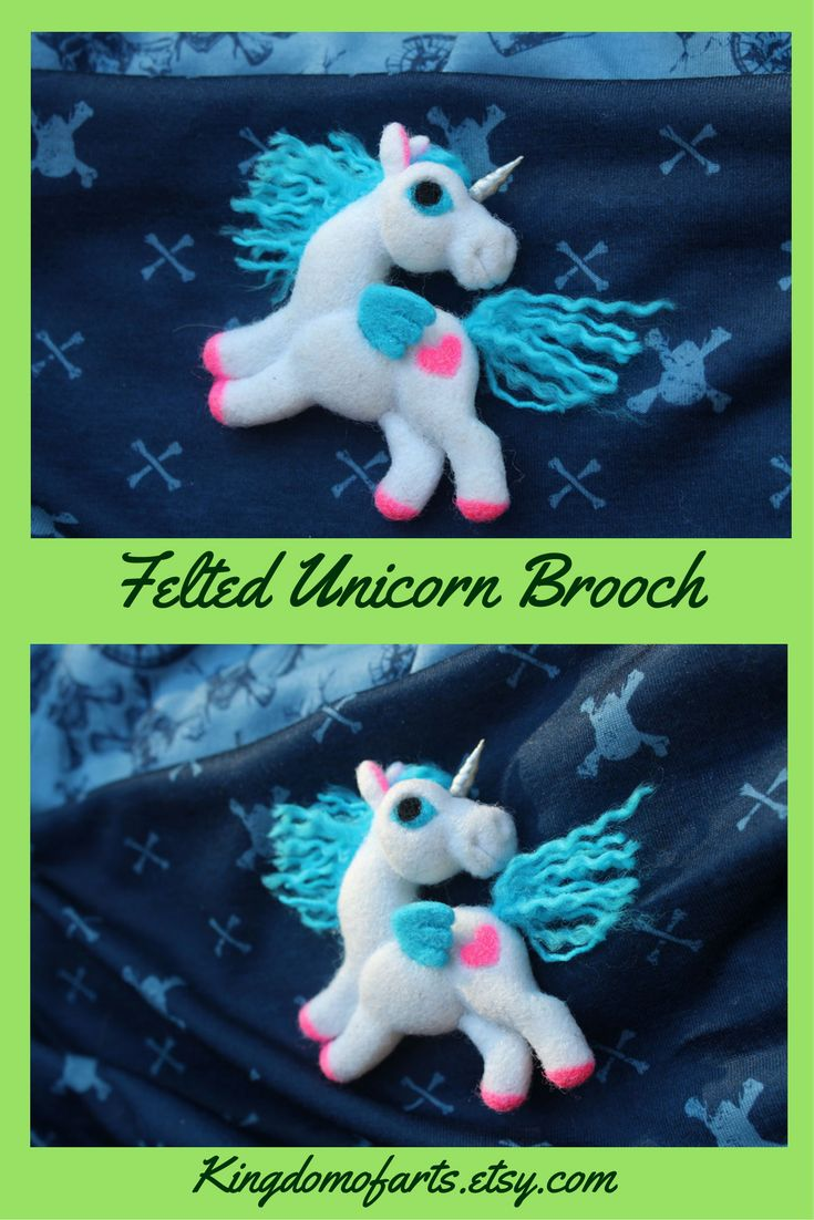 Magical felt unicorn brooch/pendant is made of 100% high quality merino wool. Pin used as the clasp.It will help to create a magical mood and fits perfectly with any clothes, bags, scarfs, hats, and jeans.~ magical unicorn  fantasy art felt unicorn brooch felt  wool unicorn handmade unicorn gifts felted unicorn art handmade unicorn handmade jewelry handmade brooch felt horse cute unicorn unicorn badge unicorn jewelry i love unicorns  unicorn pin