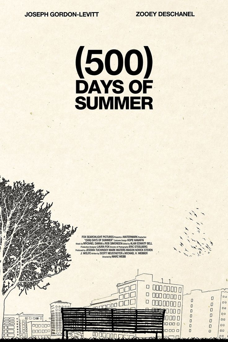 Minimal Movie Posters - (500) Days of Summer by Martin Lucas