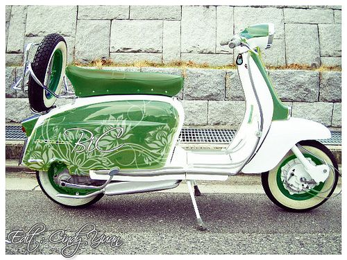 Green Lambretta by Cindy Yuan