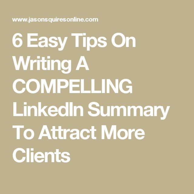 The 25+ best Linkedin summary ideas on Pinterest Accounting - linkedin resume tips