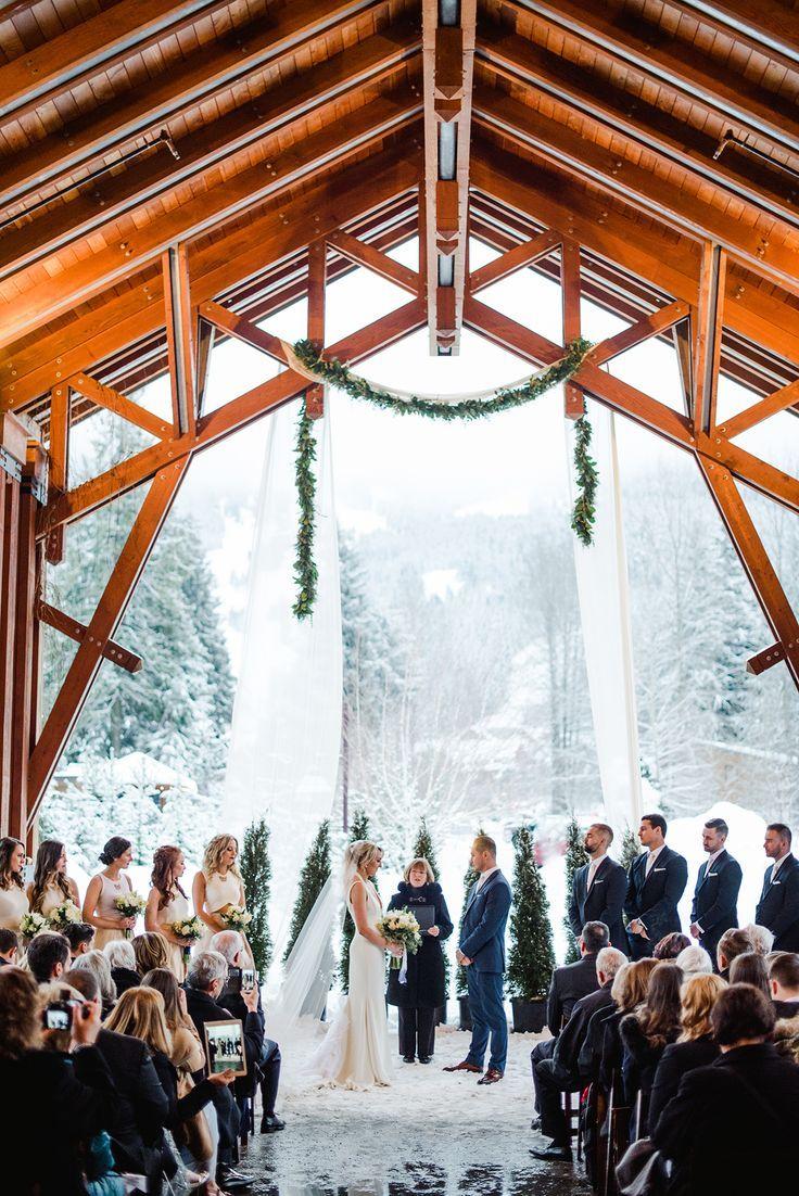 gorgeous winter wedding in whistler