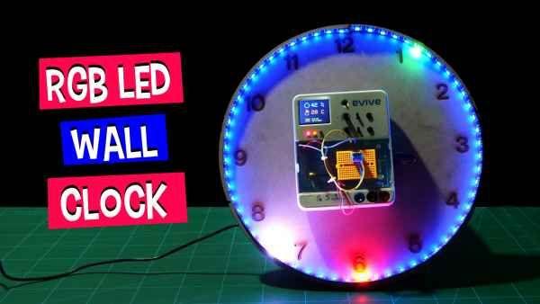 How To Make An Rgb Led Wall Clock Led Wall Clock Diy Clock Wall Rgb Led