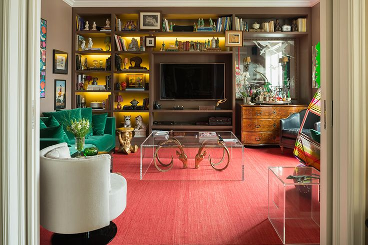 Decoração luxuosa ao melhor estilo Hollywood Regency  #décor #Decoração #Design #HollywoodRegency #Projeto