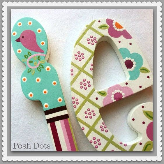 OCTOBER SPECIAL...Custom Painted Decorative Wooden by PoshDots