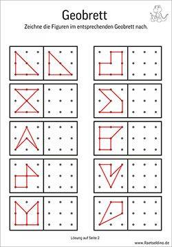 figuren und formen nachzeichnen | gitterbilder für kinder | ausdrucken, nachzeichnen, vorlagen