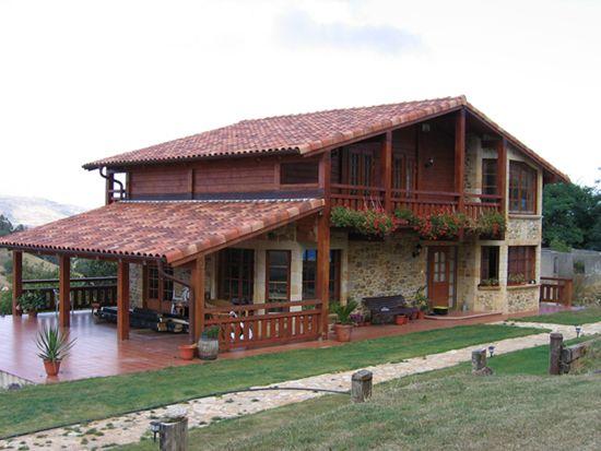 Casas coloniales peque as buscar con google casa for Casas de madera pequenas