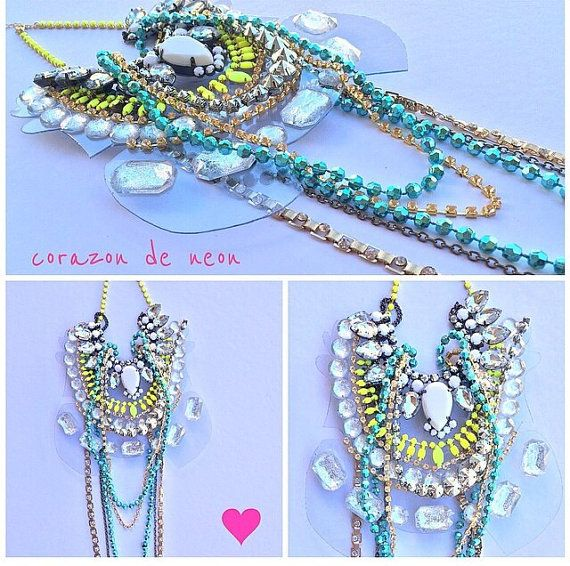 Necklace by corazondeneon on Etsy