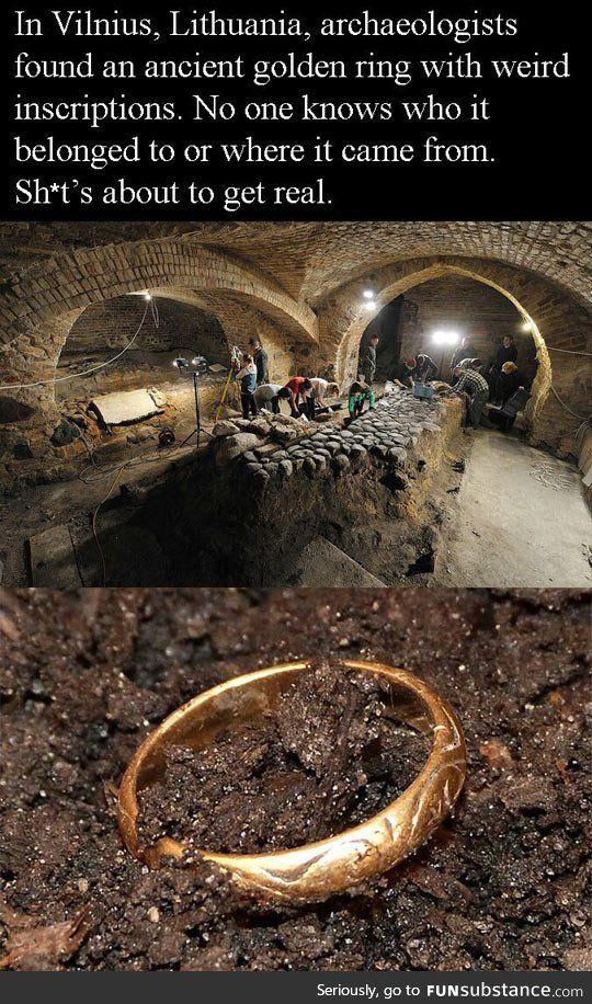 Ancient golden ring found