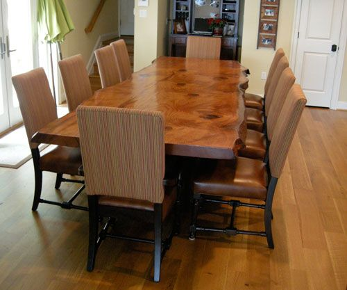 rustic dining room tables | ... reclaimed old growth redwood burl. artistic contemporary rustic table