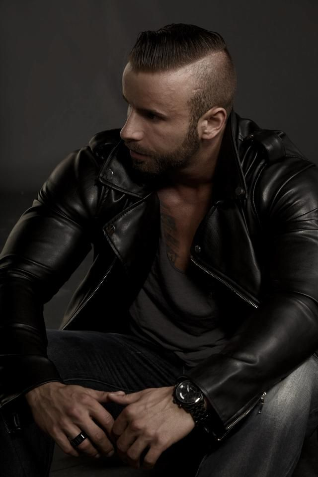 Black Leather Biker Jacket, langlitzhercules: Bruno ...