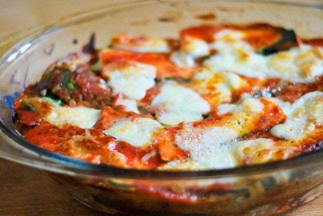 Bread and zucchini lasagne (recipe by Lidia Bastianich)