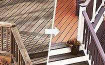 Wood Alternative Composite Deck, Railing, Lighting, Steel Deck Framing and Furniture - Trex
