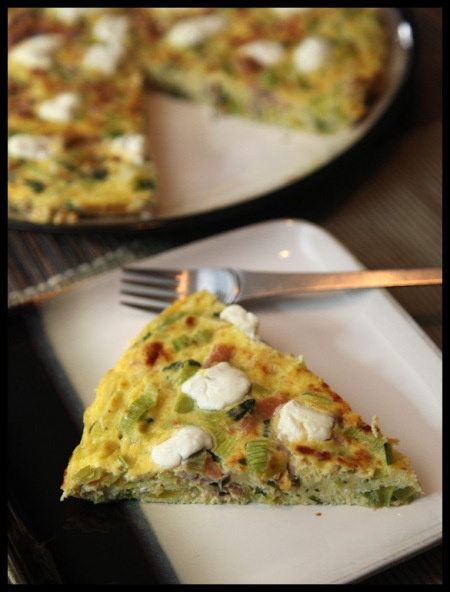 Leek, Prosciutto, and Goat Cheese Frittata | Prosciutto, Goat Cheese ...