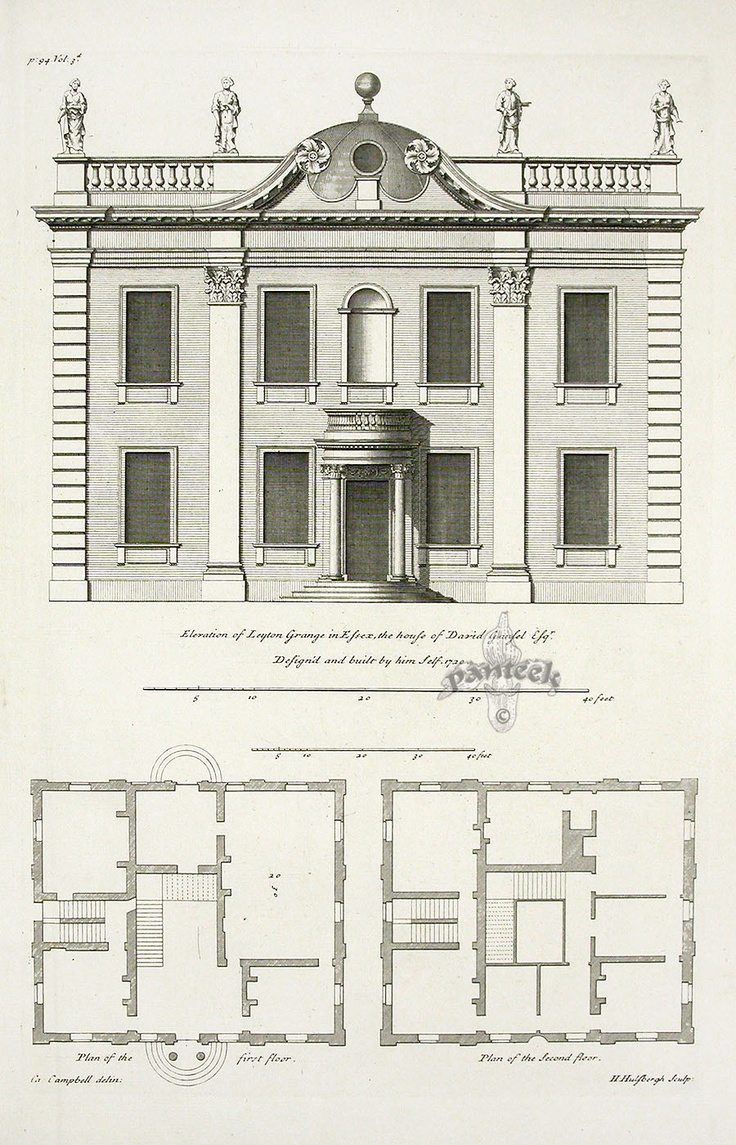 Vitruvius Britannicus Architectural Prints from 1715 by
