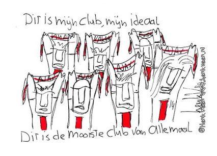 Dit is mijn club, mijn ideaal Dit is de mooiste club van allemaal! Door Henk Veen. #Ajax