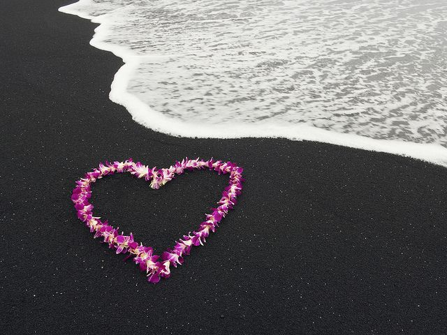 Aloha Means Love at Black Beach, Hawaii ~ I have seen the Black Beach.. Breathtaking and Beautiful