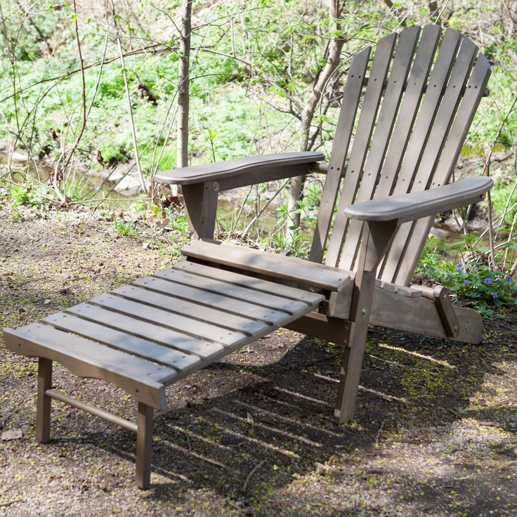 Adirondack chair with pull out ottoman woodworking for Adirondack ottoman plans