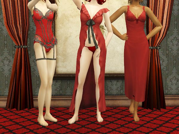 Sims 2 red dress turquoise