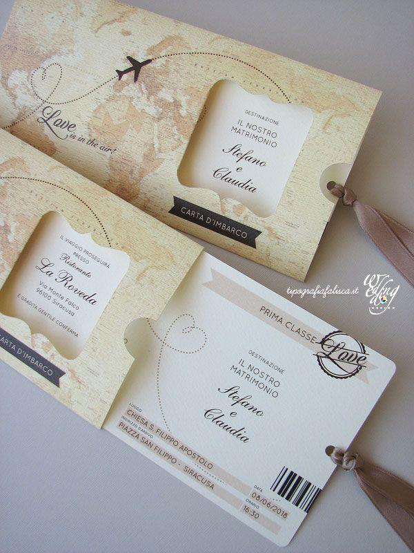 Partecipazioni Matrimonio Originali Modello Clic Clac Personalizzate Wedding Design Tipografia F Travel Wedding Invitations Travel Theme Wedding Wedding Cards