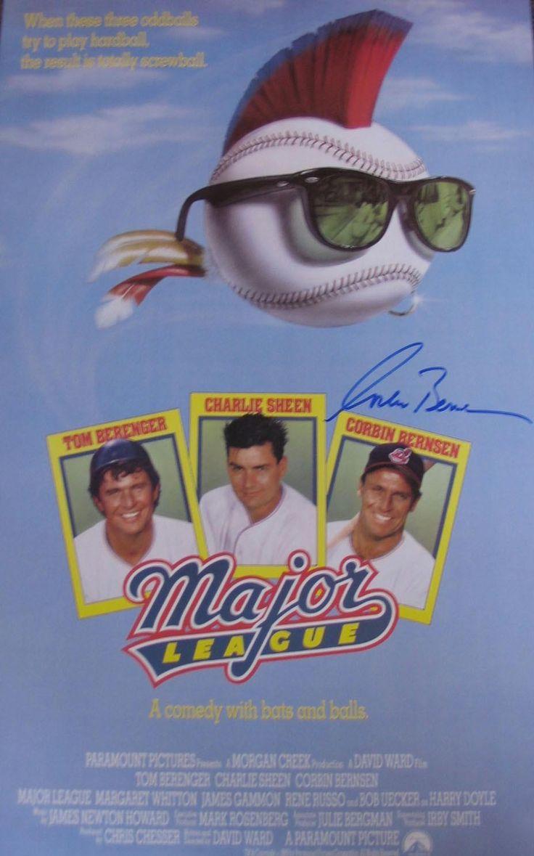 Corbin Bernsen Signed Major League Movie Poster