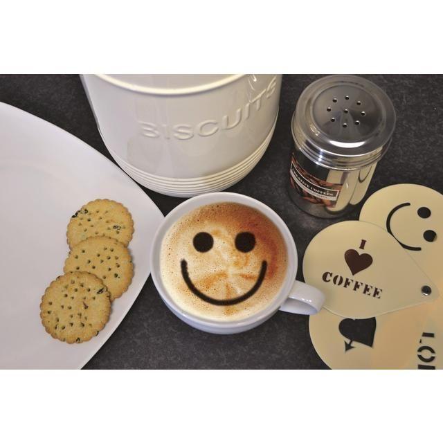 Szablony do kawy Cool Coffee Stencils