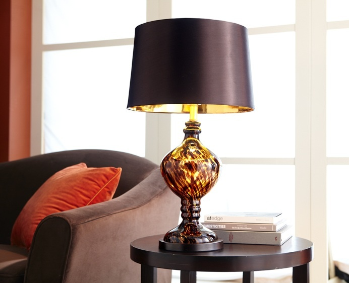 Tortoise glass table lamps from pier one basing the rest of the room from this inspiration need two of the table lamps and 1 floor lamp