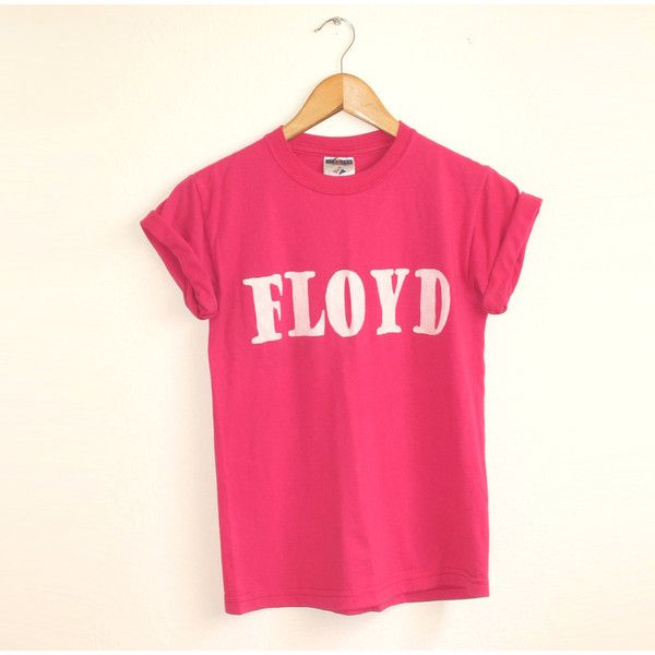 Floyd Shirt in Pink - Vintage Rocker Color Band Tee - S M L XL 2XL ($28) ❤ liked on Polyvore featuring tops, t-shirts, pink floyd, shirts, pink short sleeve shirt, short sleeve shirts, tee-shirt, pink jersey shirt and t shirts