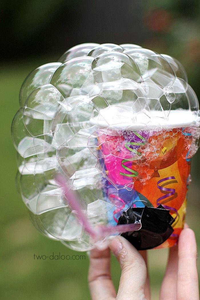 Outdoor Activities for Kids: No-Suck Bubble Pipe - Twodaloo