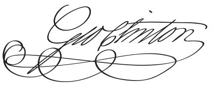 Vice-president George Clinton's signature.