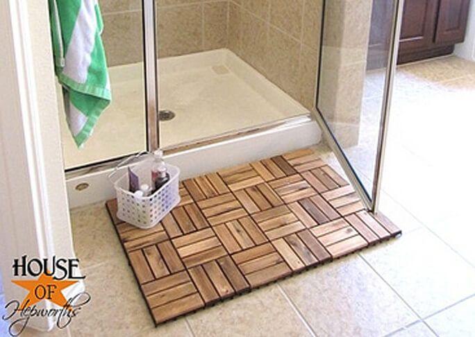 die besten 25 badematte holz ideen auf pinterest hacks. Black Bedroom Furniture Sets. Home Design Ideas