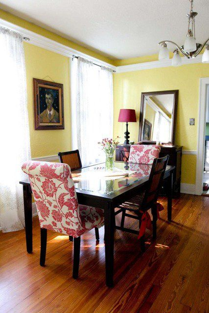 Paint Color Portfolio: Pale Yellow Dining Rooms