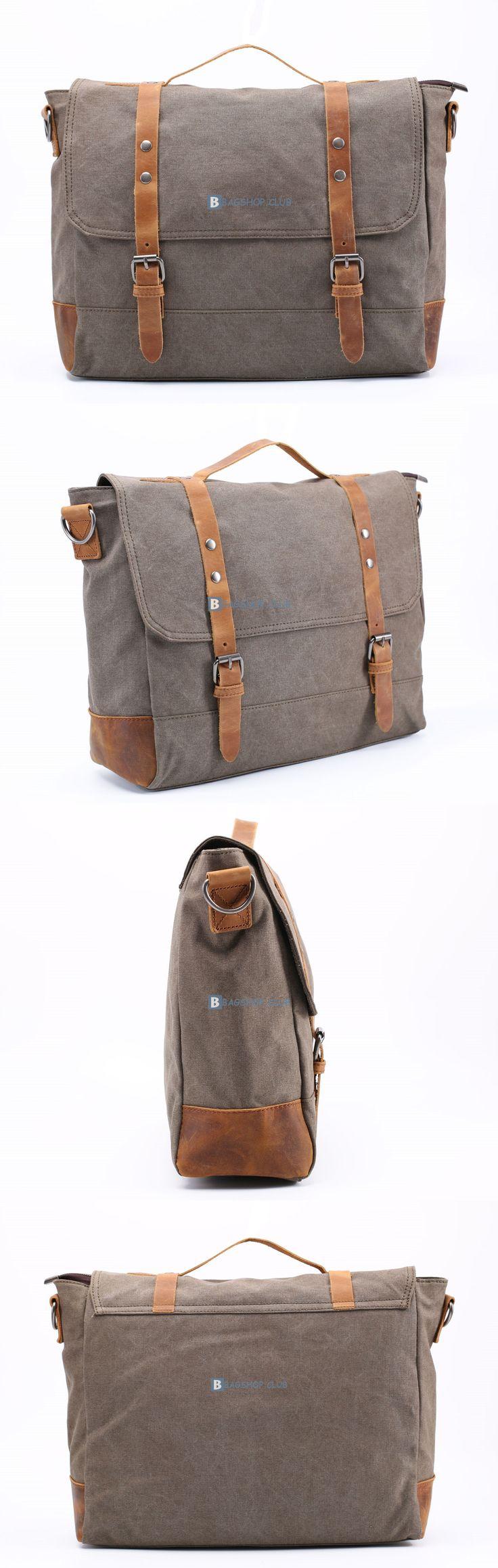 Large Canvas Messenger Shoulder Bag Travel Bag