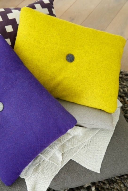 """This contrasting pillows are from our feature """"Rural Welcome"""""""