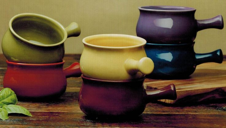 Soup Bowls with Handle - Set of 6