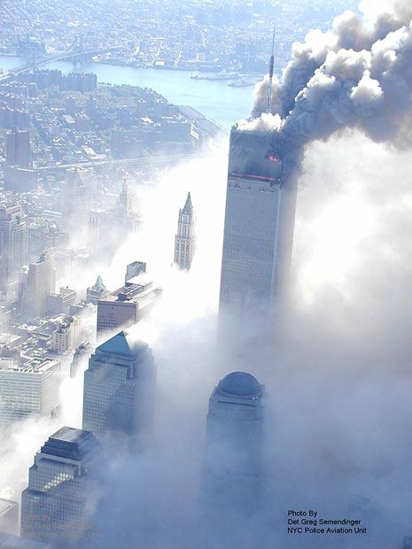Aerial pictures, never seen before, of the September 11 2001 attacks on the World Trade Center - http://www.telegraph.co.uk/news/worldnews/northamerica/usa/7209093/911-photos-helicopter-pilot-describes-taking-the-pictures.html
