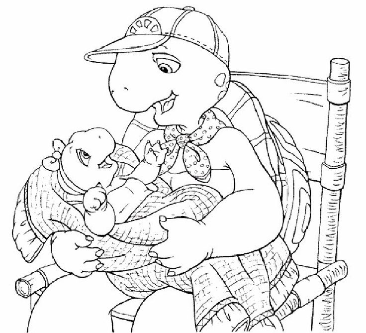 franklin the turtle coloring pages - photo#4