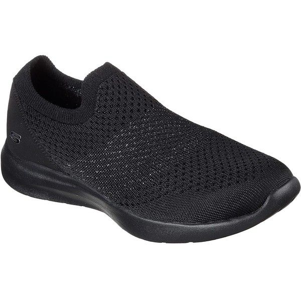 Skechers Women's Studio Comfort - Premiere Class Black - Skechers (82 CAD) ❤ liked on Polyvore featuring shoes, black, skechers footwear, black slip-on shoes, sparkly shoes, kohl shoes and slip on shoes