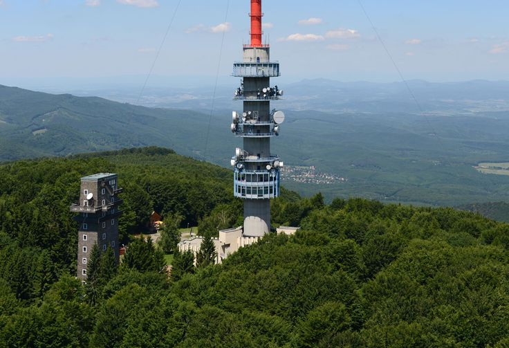The highest point of Hungary (Mátra - Kékestető)