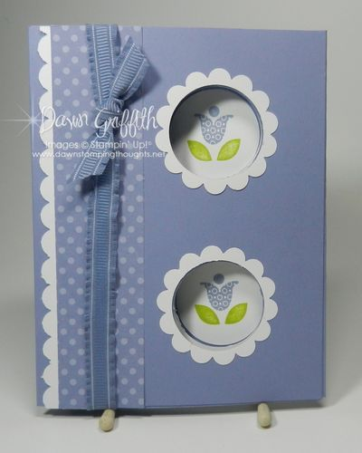 Double peek a boo card front with video tutorial by Dawn Griffith!