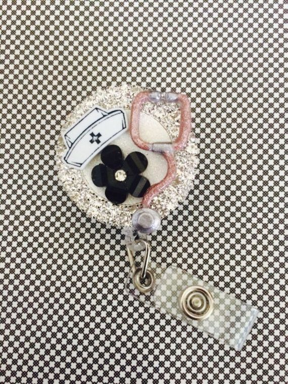 Retractable ID Badge Reel Nurse Bling - BadgeBling  - Cute and Original Gifts for Nurses - Pin for Later!